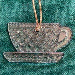 Mikasa Joyous Crystal Tea Cup Ornament
